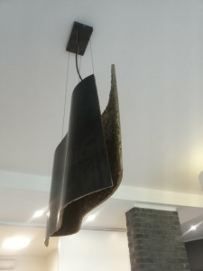 Lampada in ferro per abitazione privata progettazione Architetto Matteo Maria Gentile
