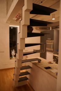 Scala in ferro per abitazione privata a Roma progettazione Architetto Maurizio Condoluci